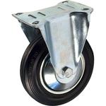 Промышленное колесо с площадкой неповоротное FC 93 d-85 мм. черная резина, сталь