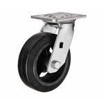 Большегрузное чугунное колесо с площадкой поворотное SCD 63 d-150 мм. литая черная резина