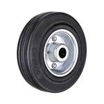 Промышленное колесо без крепления С 92 d-75 мм. черная резина, сталь