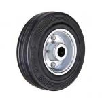 Промышленное колесо без крепления С 54 d-125 мм. черная резина, сталь
