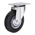Промышленное колесо с площадкой поворотное SC 80 d-200 мм. черная резина, сталь