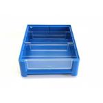 Ящик полочный 300х234х90 сплошн (синий) (гфр 37)