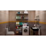 Гардеробная система для ванной комнаты 1200х400 мм.